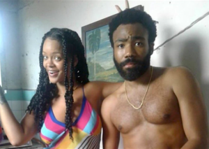 Donald Glover and Rihanna are working on a secret movie