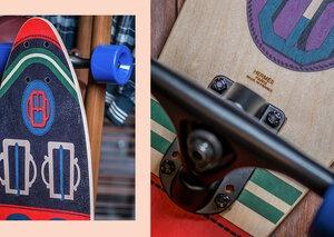 Yes, that's a Hermès skateboard