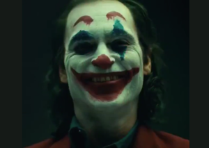 Joaquin Phoenix in joker makeup is quite frankly, terrifying