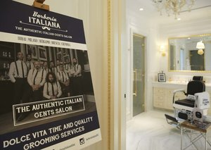 Go inside the Esquire Townhouse: Barberia Italiana