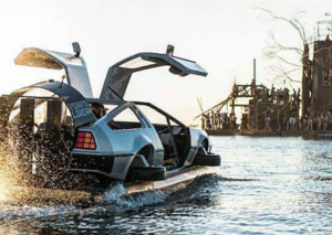 Someone just made a floating hovercraft Delorean