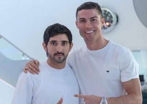 Cristiano Ronaldo spotted with Sheikh Hamdan in Dubai
