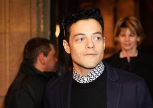 Rami Malek nails the all-black outfit