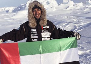 Meet the youngest Emirati to trek both North And South Pole