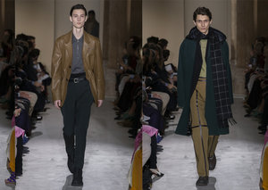 Ferragamo's Fall 2019 collection is all about leather and colour