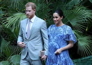 Prince Harry 'suits' up on Morocco visit with Meghan Markle