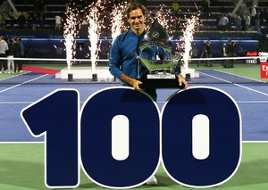 Roger Federer's ex-rivals react to his 100th title win in Dubai