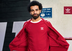 Mo Salah makes headlines for adidas adicolor