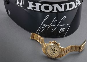 Solid gold Rolex Daytona with ties to F1 legend Ayrton Senna up for sale