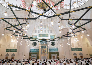 Inside the new largest mosque in Sharjah