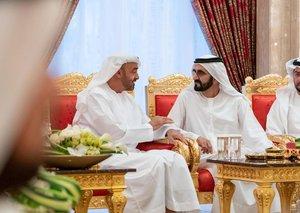 Dubai Ruler receives Skeikh Mohamed bin Zayed for iftar