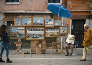 Banksy muscles his way into the Venice Art Biennale this year