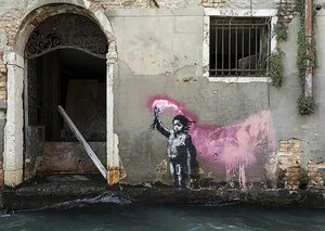 Banksy isn't done causing trouble in Venice yet