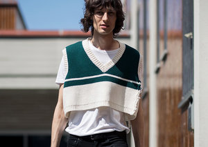 When did men's crop tops become a thing?