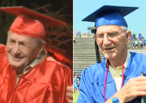 Meet two of the oldest high school graduates in history
