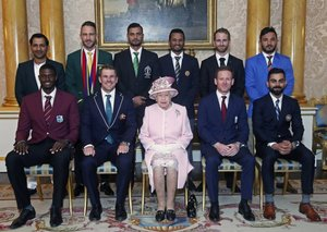 Queen Elizabeth hosts a special evening for the Cricket World Cup Captains