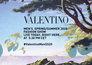 Watch the Valentino men's SS20 fashion show live from Paris
