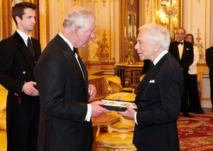 Ralph Lauren has been knighted by Prince Charles