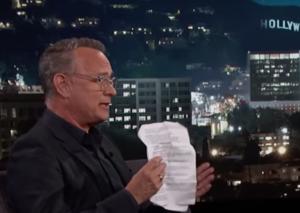 Here's how Tom Hanks avoids dropping film spoilers