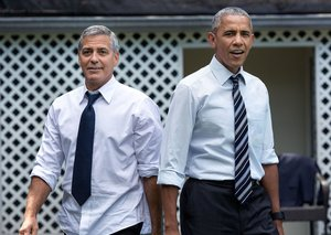 The Obamas are holidaying with the Clooneys in Italy and we want an invite