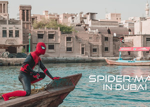 Spider-Man is in Dubai for the release of the new film