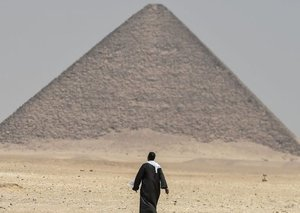 You can enter Egypt's Bent Pyramid in Cairo