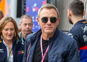Daniel Craig went full Bond villain at the British F1
