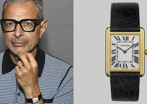 Jeff Goldbloom's loves a classic Cartier watch
