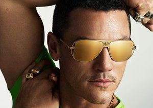 Luke Evans is the new face of Versace eyewear