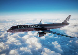The Four Seasons private jet is heading to the Middle East