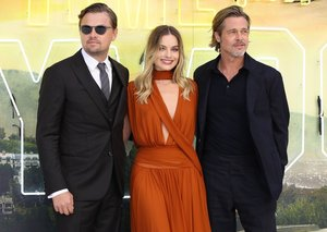 Brad Pitt and Margot Robbie held their own at Once Upon a Time premiere