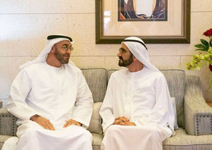 Sheikhs Mohammed bin Rashid and Mohamed bin Zayed meet to discuss the emirates