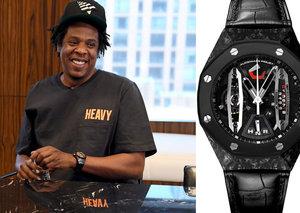 Jay Z wears a US$200,000 Audemars Piguet as he strikes a deal with NFL