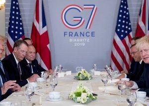 Donald Trump praises Boris Johnson as 'right man' for Brexit at G7