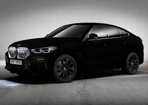 BMW's X6 coupe is coated with the 'world's blackest black' paint