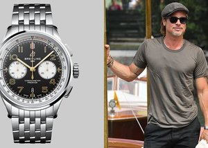 Brad Pitt's watch is plucked straight out of an action movie