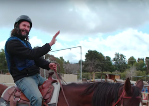 Keanu Reeves having fun on a horse is the next great meme of the Keanusance