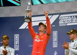 Ferrari's Charles Leclerc wins first ever F1 race