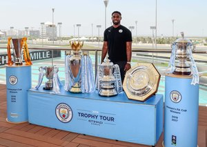 Manchester City FC legend Micah Richards meets fans in Abu Dhabi