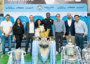 Rexona hosts Manchester City's global trophy in Abu Dhabi