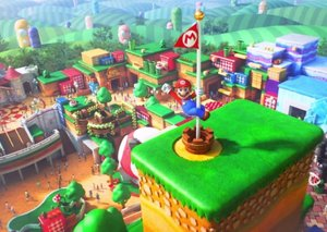 A sneak peek inside the Super Mario World theme park