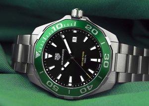 TAG Heuer creates $2,000 green 200-piece Saudi Arabia Aquaracer