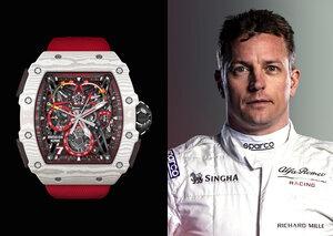 F1 driver Kimi Räikkönen teams up with Richard Mille