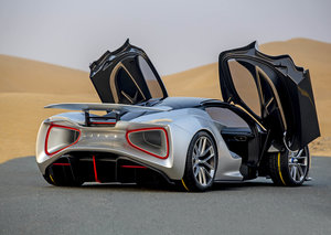 The all-electric Lotus Evija debuts in the United Arab Emirates