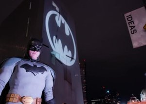 Cities celebrate Batman Day by shining bat-signal in the sky