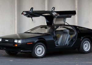 A blacked-out 1981 DeLorean sold for a mere $30,000 at auction