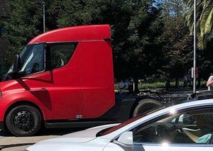 Tesla truck prototype spotted outside of Pixar headquarters