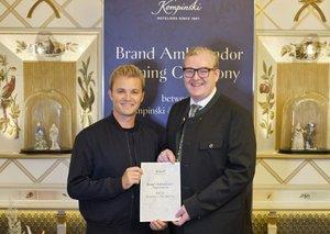 Ex-F1 world champion Nico Rosberg is now the brand ambassador of Kempinski Hotels