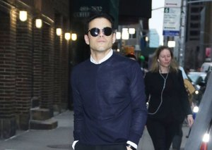 Rami Malek's black-and-navy outfit is a master class in stylish rule-breaking