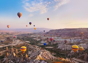 The Turkish town of Cappadocia is blowing up